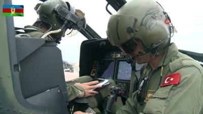 """- """"TurAz Kartalı 2020"""" tatbikatı savaş helikopterlerinin katılımıyla devam ediyor"""