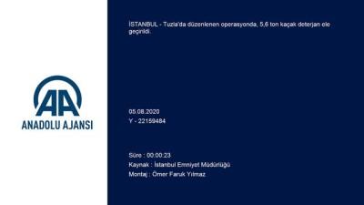 Tuzla'da 5,6 ton kaçak deterjan ele geçirildi - İSTANBUL
