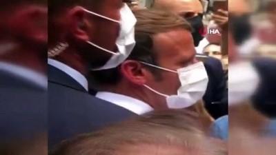 hukumet -  - Lübnanlı kadından Fransa Cumhurbaşkanı Macron'a: 'Parayı yolsuz hükümetimize vermeyin'