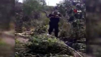 Manisa'da jandarmadan drone ile uyuşturucu operasyonu