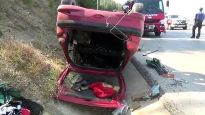 direksiyon -  Seyir halindeki otomobil takla attı: 1 yaralı