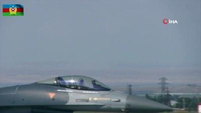 """- """"TurAz Kartalı 2020"""" tatbikatı F-16'ların katılımıyla devam ediyor"""