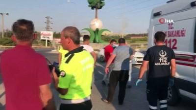 Yaralanan oğlunu ambulansta gören baba telaşe kapıldı