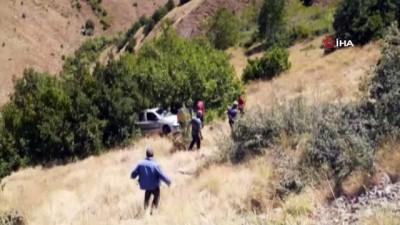 direksiyon -  Tunceli'de otomobil uçuruma yuvarlandı: 1 ölü, 1 yaralı