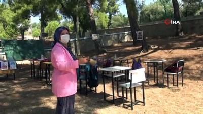 Antalya'da sınıflar açık havaya taşındı