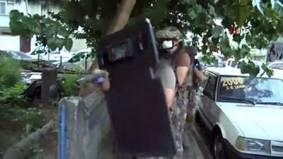 Zehir tacirlerine şafak vakti film gibi operasyon kamerada