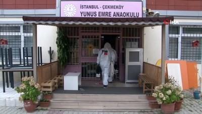 Çekmeköy Belediyesi'nden okullara temizlik ve dezenfekte çalışması