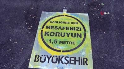 Malatya Büyükşehir'den 3 bin noktaya fiziki mesafe uyarısı