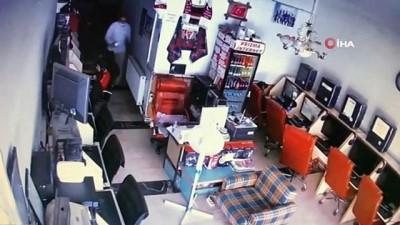 Hırsız önce güvenlik kamerasına sonra polise yakalandı