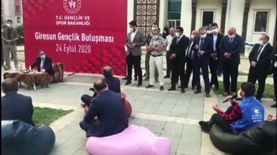 Gençlik ve Spor Bakanı Mehmet Muharrem Kasapoğlu, gençlerle bir araya geldi - GİRESUN