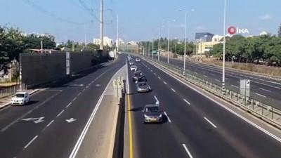 - İsrail'de Netanyahu karşıtlarından konvoylu protesto