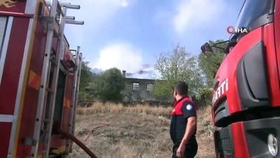 Ormancı türküsünün yakıldığı mahallede korkutan yangın