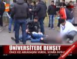 ataturk universitesi - Önce kız arkadaşını sonra kendini vurdu Videosu