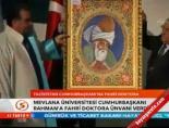 mevlana universitesi - Mevlana Üniversitesi Cumhurbaşkanı Rahman'a fahri doktora ünvanı verdi