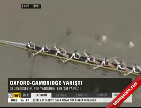oxford - Oxford-Cambrıdge yarıştı