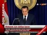 Mısır'da Eski Cumhurbaşkanı Hüsnü Mübarek Tahliye Edildi