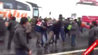 Öğretmen Servisi-Yolcu Otobüsü Kazası Sonrası Büyük Kavga! - Nevşehir / Acıgöl