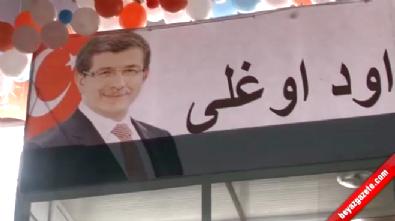 Nevşehir Başbakan Ahmet Davutoğlu'nu Osmanlıca Pankart İle Karşıladı!