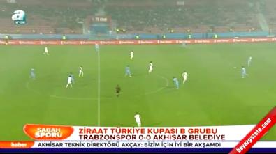 Trabzonspor Akhisar Belediyespor: 0-0 Maç Özeti (Türkiye Kupası 18 Aralık 2014)
