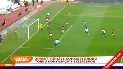 Torku Konyaspor Cizrespor: 7-1 Maç Özeti ve Golleri (Türkiye Kupası 24 Aralık 2014)