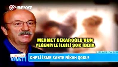Mehmet Bekaroğlu, sahte nikah iddialarını yalanladı