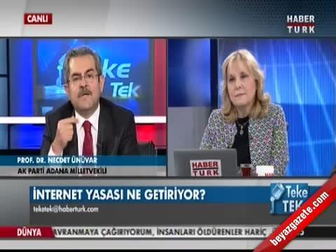 necdet unuvar - Teke Tek - Canlı yayında İnternet Yasası tartışması