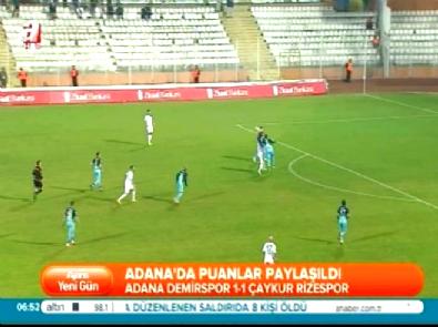 Adana Demirspor Çaykur Rizespor: 1-1 Maç Özeti ve Golleri (28 Ocak 2015)