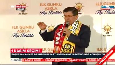 cumhuriyet bayrami - Başbakan Davutoğlu Malatya'da müjde üstüne müjde verdi