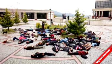 Ankara'daki terör saldırısına ilginç protesto