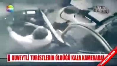 Kuveytli turistlerin öldüğü kaza kamerada