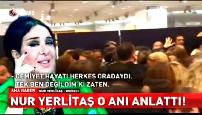 Nur Yerlitaş, mağazadaki izdihamı anlattı