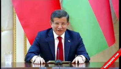 Davutoğlu'nun kullandığı Azerice kelime Aliyev'i güldürdü