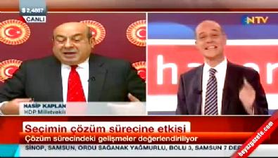 Hasip Kaplan'dan NTV Spikeri Erhan Ertürk'ü güldüren yanıt