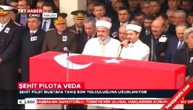 Şehit Pilot Mustafa Tanış için Kocatepe Camii'nde cenaze töreni düzenlendi