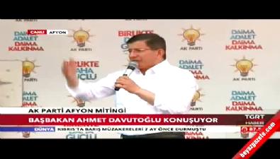 Başbakan Ahmet Davutoğlu Afyonkarahisar'da konuştu
