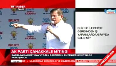 cumhuriyet meydani - Başbakan Davutoğlu Çanakkale'de konuştu