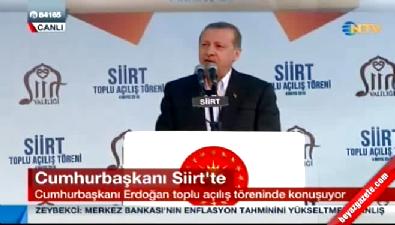 Cumhurbaşkanı Recep Tayyip Erdoğan Siirt'te konuştu