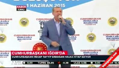 Cumhurbaşkanı Erdoğan Iğdır'da halka hitap etti