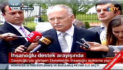 Ekmeleddin İhsanoğlu Başbakan Davutoğlu ile görüştü