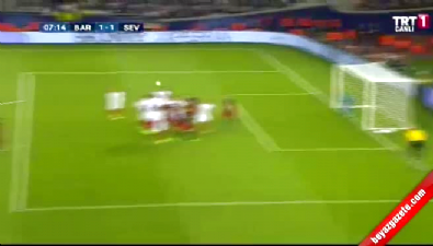Barcelona: 1 Sevilla: 1 (Gol: Messi) UEFA Süper Kupa finali