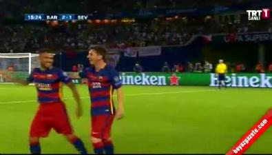 Barcelona: 2 Sevilla: 1 (Gol: Messi) UEFA Süper Kupa finali