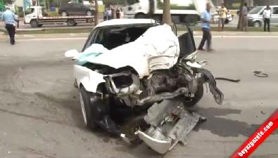 Kazada Yola Savrulan Sürücüye Otomobil Çarptı