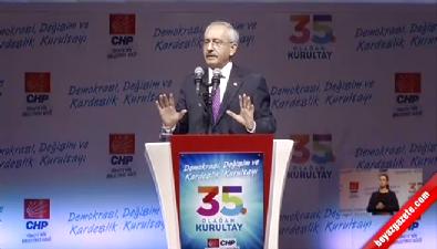 Kemal Kılıçdaroğlu'nun kurultay konuşması