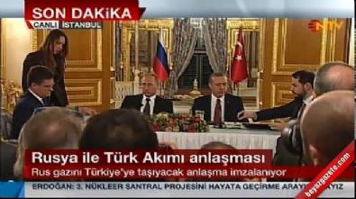 Türkiye ile Rusya arasında Türk Akımı projesi için anlaşma imzalandı