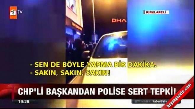 mehmet siyam kesimoglu - CHP'li Başkan'dan polislere tehdit!