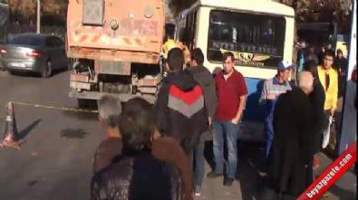 Ankara Dışkapı dolmuş durağında korkunç kaza! Değnekçi öldü
