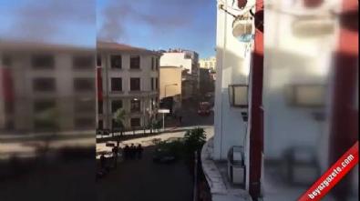 Göç merkezinde yangın çıktı silahlar ateşlendi
