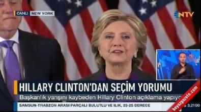 Hillary Clinton'dan ilk açıklama