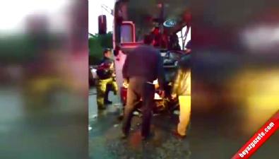 İzmir Kemalpaşa / 20 Kişinin Yaralandığı Feci Kazada Tanker Şoförü Öldü