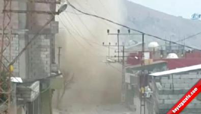 Barikata yerleştirilen bomba böyle patladı!